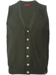 Jacob Cohen Sleeveless Cardigan Green