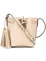 Polo Ralph Lauren Mini Bucket Crossbody Bag Nude And Neutrals