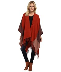 Echo Color Block Reversible Ruana Sienna Women's Sweater Brown