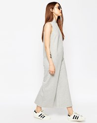 Asos Jersey Jumpsuit With High Neck In Sweat Gray Marl