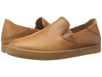 Olukai Makani Leather Mustard Mustard Men's Slip On Shoes Tan
