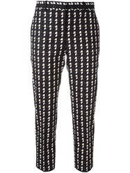 Theory Checked Cropped Trousers Black