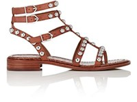 Sam Edelman Women's Studded Eavan Leather Gladiator Sandals Brown Tan Brown Tan