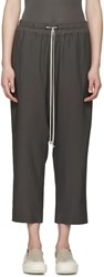 Rick Owens Grey Cropped Harem Pants