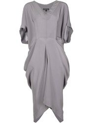 Alexandre Plokhov Cape Dress Grey