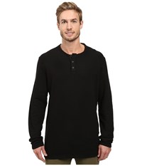 Agave Essex Long Sleeve Brushed Twill Black Men's Long Sleeve Pullover