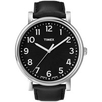 Timex Originals Classic Round Watch Black And Black Leather