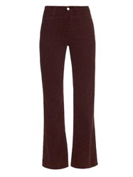Alexa Chung For Ag The Revolution High Rise Flared Corduroy Jeans