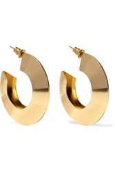Kenneth Jay Lane Gold Plated Hoop Earrings