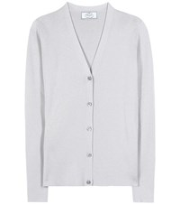 Prada Cashmere And Silk Cardigan Grey