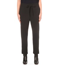 Chloe Classic Slim Fit Crepe Trousers Black