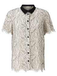 Numph Marisabel Lace Shirt Cloud Danger
