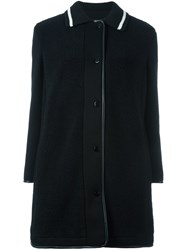 M Missoni Knit Collar Coat Black