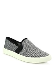 Vince Slip On Canvas Sneakers Navy