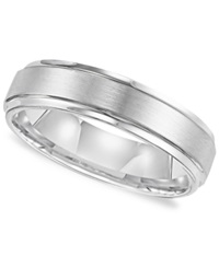 Triton Men's White Tungsten Carbide Ring Comfort Fit Wedding Band 6Mm