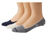 Sperry Skimmers Feed Stripe 3 Pack Navy White Men's Crew Cut Socks Shoes Blue