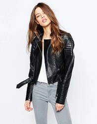 Y.A.S Salt Leather Jacket Black