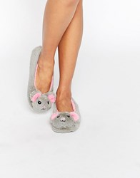 Asos Nougat Mouse Slippers Grey