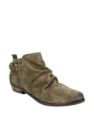 Naughty Monkey Buckle Me Up Suede Booties Taupe