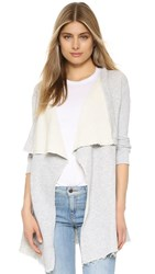 Ingrid And Isabel Drape Front Cardigan Light Heather Grey