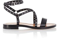 Valentino Women's Ankle Wrap Sandals Black