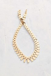Urban Outfitters Technically Modern Metal Statement Necklace Gold