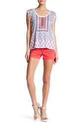 Jessica Simpson High Rise Short Red