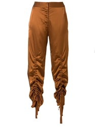 Manning Cartell Ruched Cropped Trousers Brown