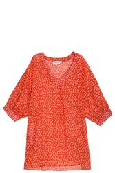 Paul And Joe Cotton Voile Blouse Red
