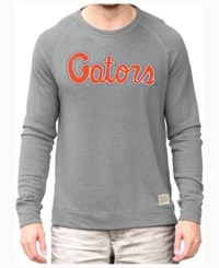 Retro Brand Men's Florida Gators Quad Crew Sweatshirt Gray