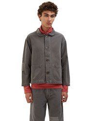 Olderbrother Patchwork Denim Chore Jacket Grey