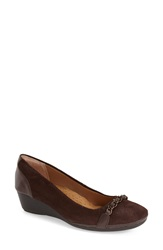 Softspots 'Cassia' Wedge Pump Women Coffee Chocolate Leather