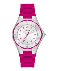 Michele Tahitian Jelly Bean Petite Carousel Watch Pink