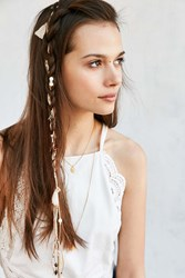 Urban Outfitters Suede Tassel Charm Braid Clip Extension Assorted