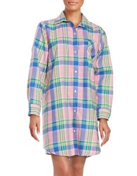 Lauren Ralph Lauren Patterned Cotton Sleepshirt Pink