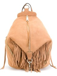 Rebecca Minkoff 'Julian' Fringed Backpack Nude And Neutrals