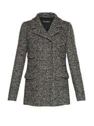Dolce And Gabbana Four Pocket Herringbone Tweed Jacket