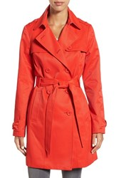 Kate Spade Women's New York Trench Coat Lollipop Red