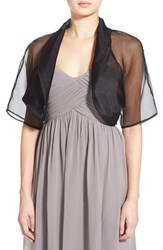 Women's Bernie Of New York Sheer Organza Silk Bolero Black