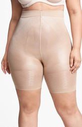 Plus Size Women's Oroblu 'Shock Up Mx' Boxer Shaper Nude