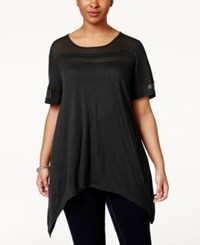 American Rag Plus Size Illusion T Shirt Only At Macy's Classic Black