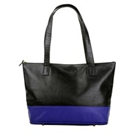 Marie Odile For Soltek Augustin Tote Rich Black And Royal Blue
