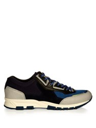 Lanvin Running Contrast Panelled Low Top Trainers Light Blue
