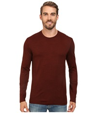 Smartwool Nts Micro 150 Pattern Crew Neck Cinnamon Men's Long Sleeve Pullover Burgundy
