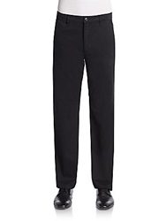 Saks Fifth Avenue Blue Cotton Chino Trousers Black