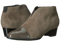 Ara Palmer Alpaca Suede Piombo Patent Toe Women's Shoes Brown
