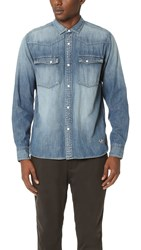 White Mountaineering Denim Western Shirt Indigo