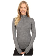 Icebreaker Oasis Long Sleeve Half Zip Gritstone Heather Women's Clothing Gray