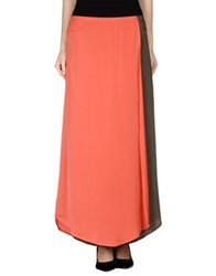 Anonyme Designers Long Skirts Coral