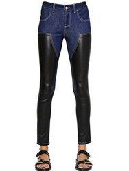 Givenchy Nappa Leather And Cotton Denim Jeans